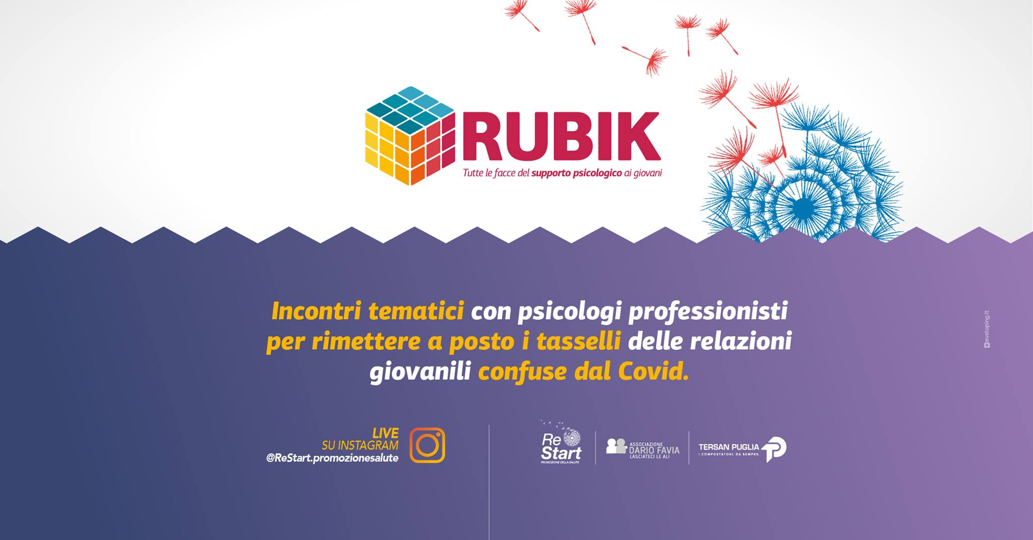 Il progetto Rubik: un sostegno per i giovani ai tempi del Covid